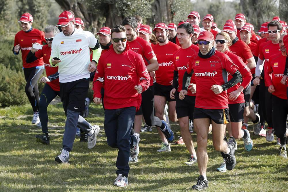 Fernando Alonso, en la inauguración de la pista de El Bosque, en Madrid