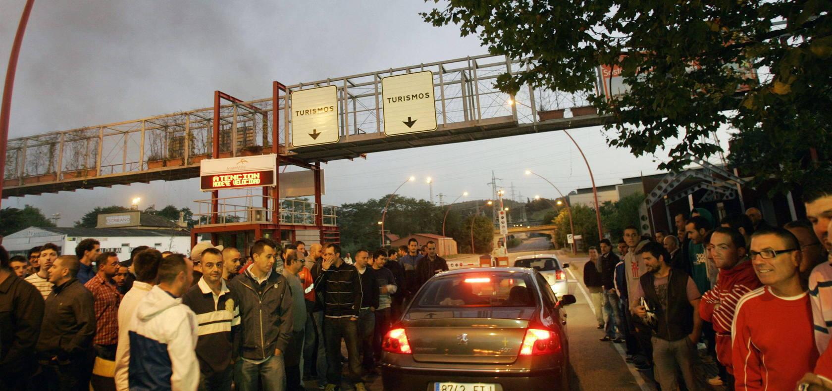 Jornada de huelga en las factorías de Arcelor de Asturias