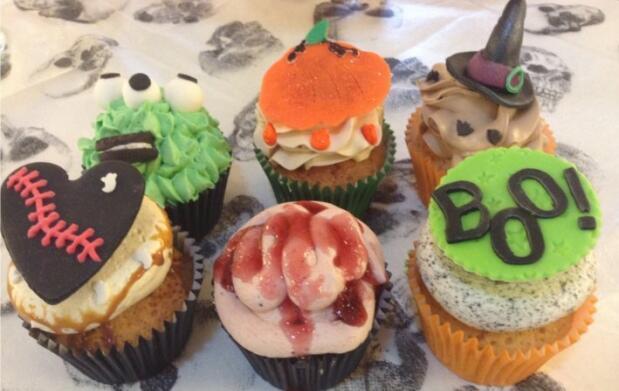 Cupcakes o tarta de Halloween