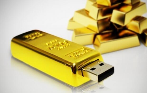 USB Lingote de oro. Dos opciones 16 ó 32 GB