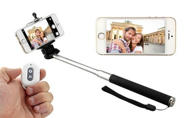 Palo de selfie, mando bluetooth y trípode