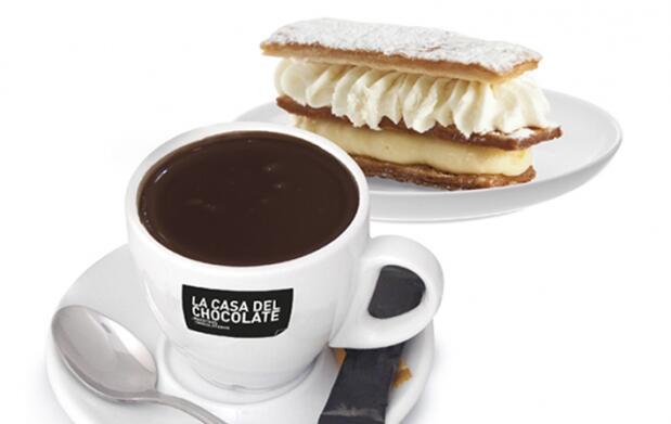Chocolate o café y riquísima pastelería