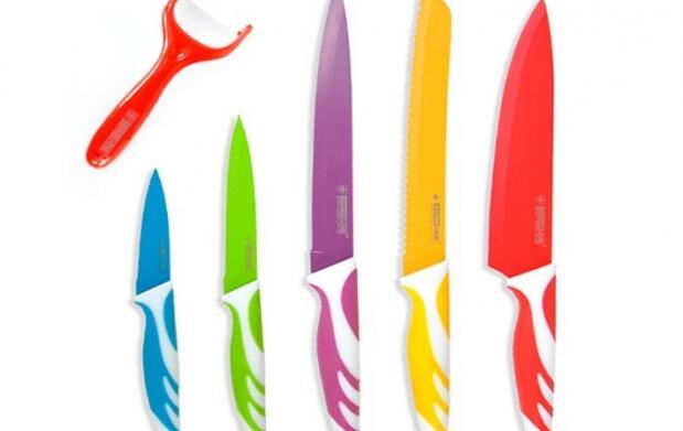 Set cuchillos con revestimiento cerámico