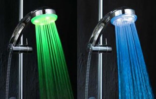 Ducha LEDs en 3 colores