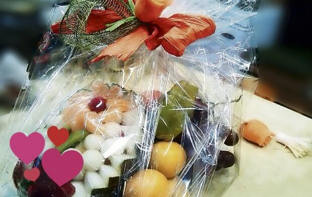 Cesta de frutas en San Valentín