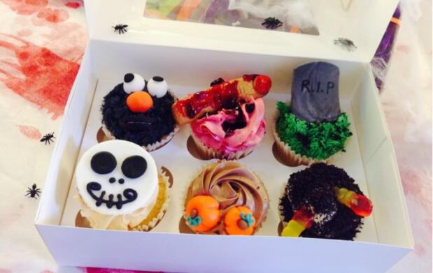 Galletas o cupcakes de Halloween