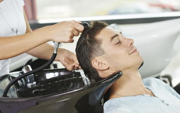 Lavado, masaje y corte de caballero