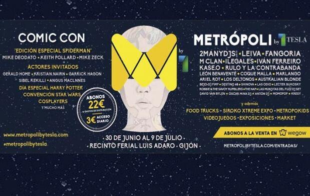 Abono para el Festival Metrópoli