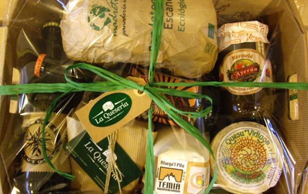 Cestas de productos asturianos