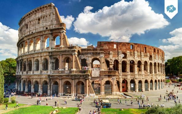 Escapada de 4 días, 3 noches + vuelo a Roma