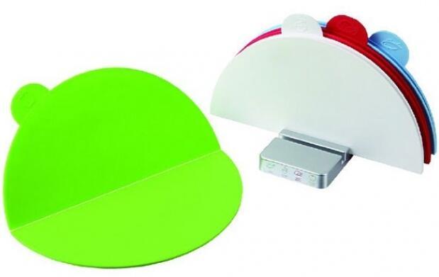 Set de 4 tablas de cortar de colores