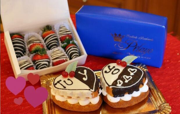 Dúo tartas mini o fresones San Valentín