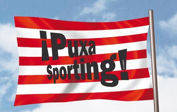 Entrada Sporting - Villarreal + bandera