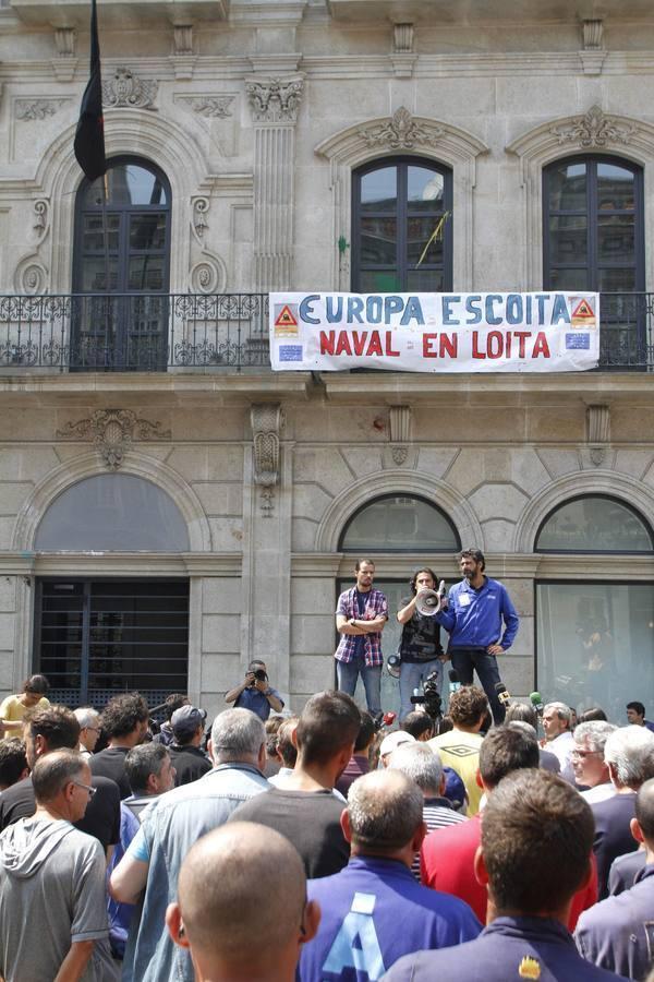 Todas las imágenes de las protestas del sector naval en Vigo y Sestao