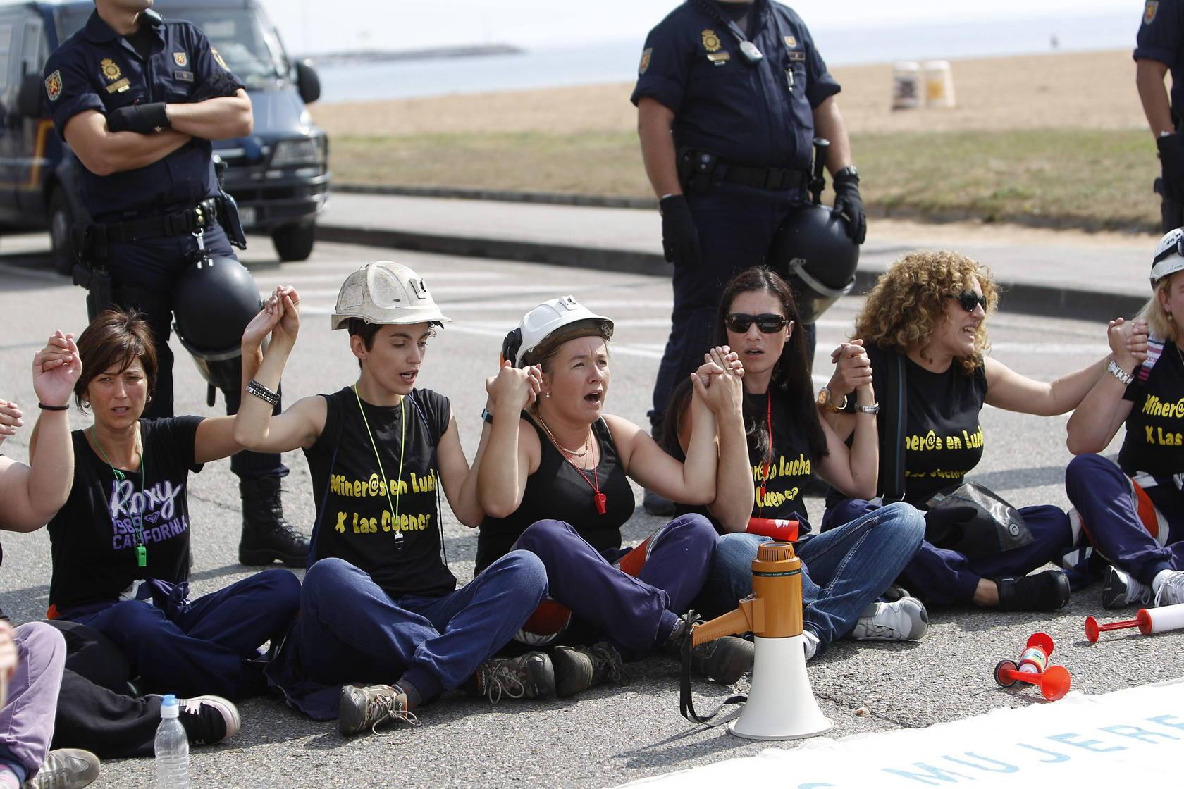 Las mujeres del carbón en una nueva jornada de protesta