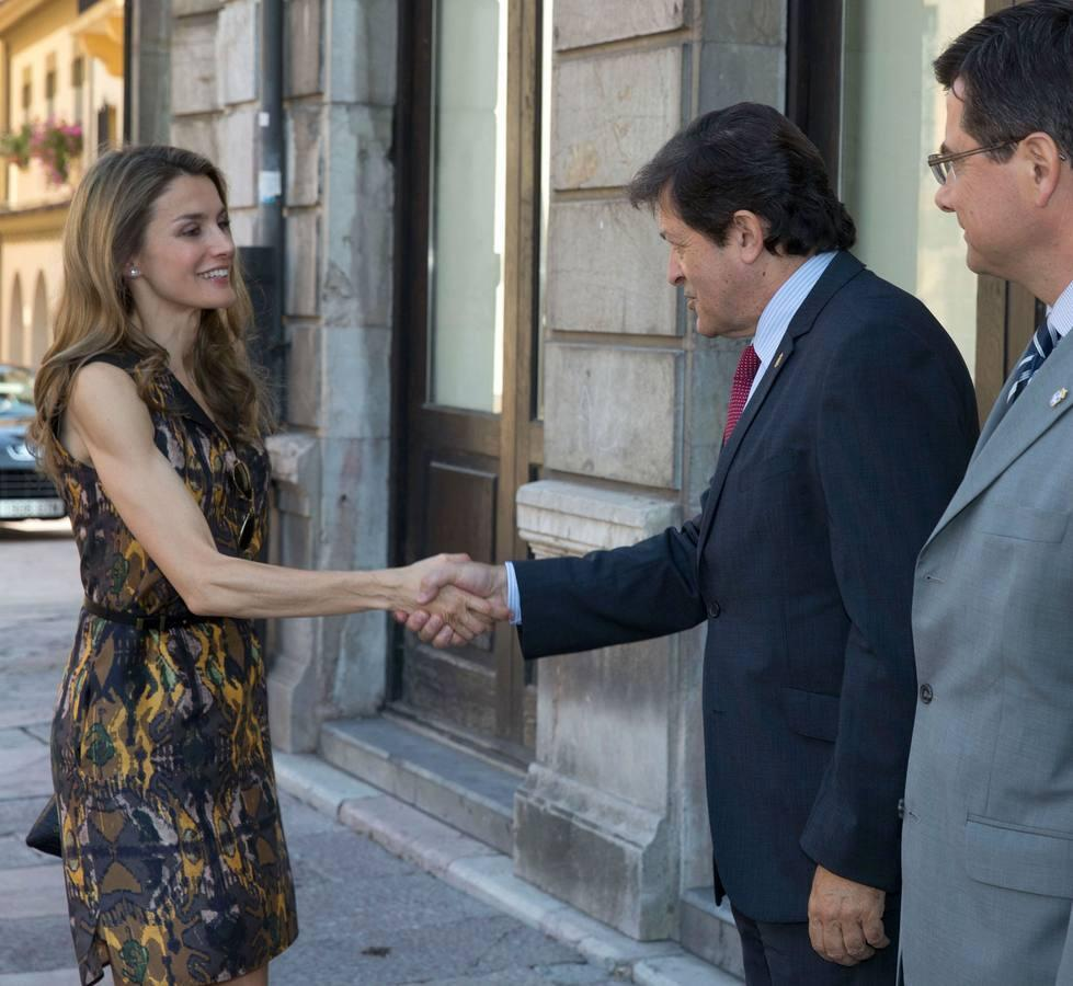 Doña Letizia inaugura los cursos de la Fundación Príncipe en Oviedo