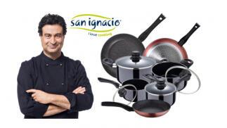 Batería de cocina 8 piezas + set 3 sartenes San Ignacio