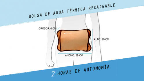 Bolsa de agua térmica recargable