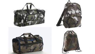Mochilas y bolsas de deporte multibolsillos de camuflaje
