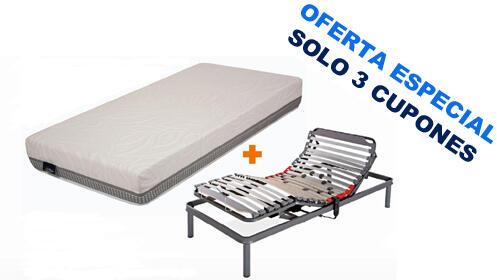 Pack colchón arti-plus + Somier articulado Plus Confort + Almohada visco
