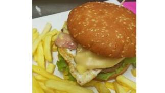 Completo menú de hamburguesa para 2