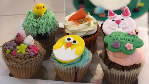 Irresistibles postres de Pascua: Caja de 6 Cupcakes o Bollo de Pascua