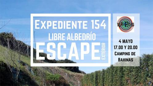 """Escape exterior: Expediente 154 """"libre albedrío"""""""