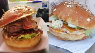 Elige la hamburguesa que mas te apetezca con patatas + Copa de helado o batido