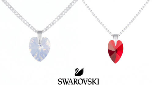 Conjunto Corazón de cristal o rojo de Swarovski