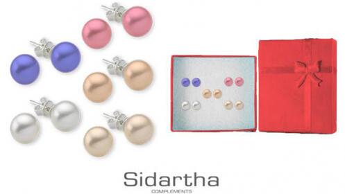 Set 5 Pendientes de Perlas Naturales
