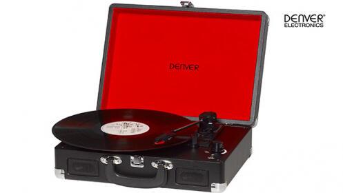 Tocadiscos Denver USB con software de grabación
