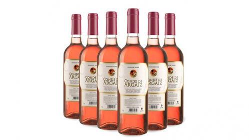 6 botellas de vino rosado Conde de Argaiz