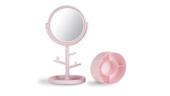 Espejo joyero con luz LED