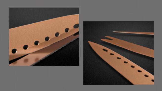 Parrilla eléctrica con recubrimiento cobre + Juego de cuchillos