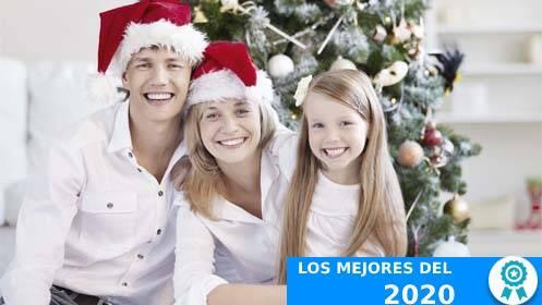 Sesión fotográfica navideña en familia