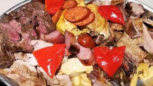 Zamburiñas y parrillada de carne para 2